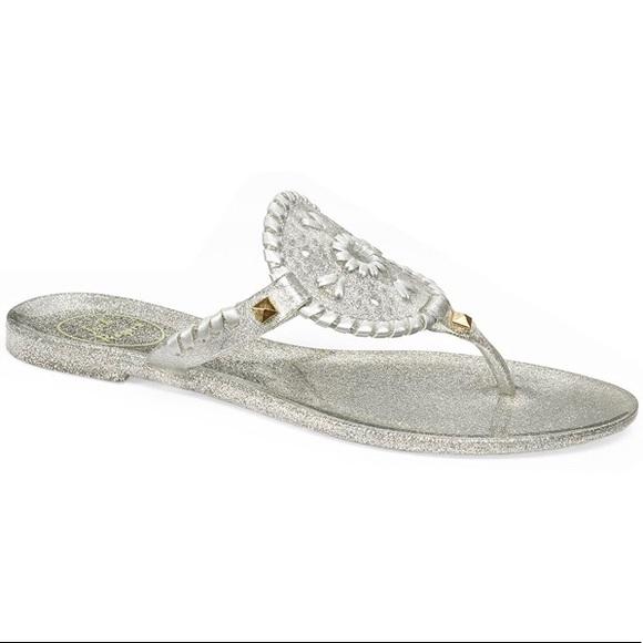 Jack Rogers Sparkle Georgica Jelly Thong Sandals Sz. 9